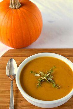 Pumpkin Soup Recipe | via Brown Eyed Baker