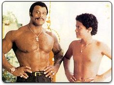 Rocky Johnson and young Rock