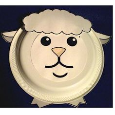 Paper Plate Lamb Craft; Use with Lost Sheep, Lamb of God, and when talking about God's Children as sheep.