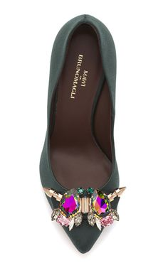 Oooo…Shiny! Lots of embellishment headed our way for Spring, can not wait for this!   #shoes #fashion #trends #embellishment When we say the bejeweled trend is hot, THI...