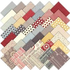 I think this is the fabric of choice for my little quilt project. Retro and sweet.