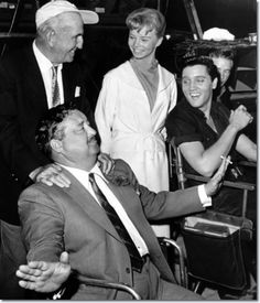 #elvis and others actors on a set