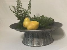 This item is unavailable Metal Cake Stand, Pedestal Cake Stand, Stone Planters, Indoor Planters, Coffee Table Tray, A Table, Galvanized Tray, Rustic Plates, Rustic Cake