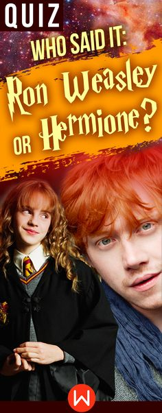 Harry Potter Quiz: Ron or Hermione? Take this quiz to find out if you really know all the HP quotes. fun quizzes, Harry Potter Trivia. Bloody hell! You can't call yourself a #harrypotterfan if you can't ace this HP quiz! #hermione #hogwarts #harrypotterforever
