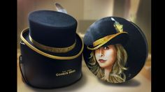 Custom hand drawn / painted hat box lid by Toronto artist Paul Limgenco for celebrity musician Stevie Nicks - watch the video for details & more CELEBRITIES' custom gifts! Custom Gifts, Customized Gifts, Box With Lid, Stevie Nicks, Hand Drawn, Toronto, Captain Hat, How To Draw Hands, Artisan