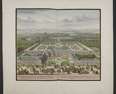 """Daniel Stoopendaal, """"The palace at Loo with its gardens, belonging to the Prince of Nassau, Hereditary Stadholder of Friesland"""" (Amsterdam: N. Visscher, ca. 1710)"""