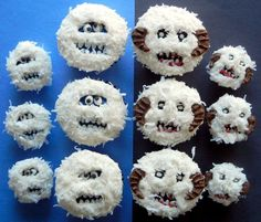 wampa and bumble cupcakes by sugarswings, via Flickr