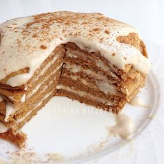 Clean Eating: Vanilla Chai Pumpkin pancakes.  Recipe can be found on Instagram | corinanielsen