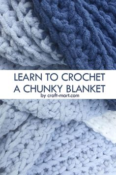 Chunky Crochet Blanket Pattern Free, Chunky Yarn Blanket, Crochet Blanket Tutorial, Crochet For Beginners Blanket, Crochet Basics, Crochet Stitches, Crochet Patterns, Beginner Crochet Blankets, Simple Crochet Blanket