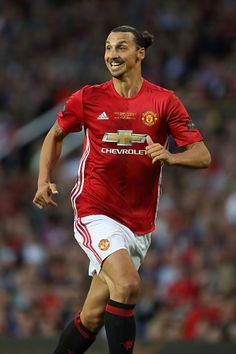 Zlatan Ibrahimovic of Manchester United during the Wayne Rooney Testimonial match between Manchester United and Everton at Old Trafford on August 3...