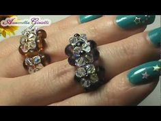 Tutorial anello swarovski - per principianti - (DIY swarovski ring) - YouTube