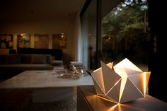 Folding Lamp: The White&Gold version of Folding Lamp is available on Kickstarter. Get yours on https://www.kickstarter.com/projects/1303267585/folding-lamp  // #foldinglamp #ThomasHick