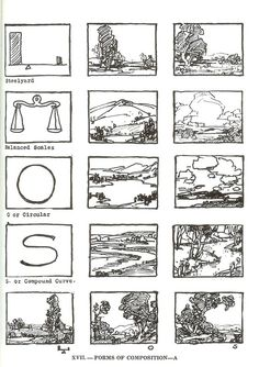 Compositional sketches by John Carlson