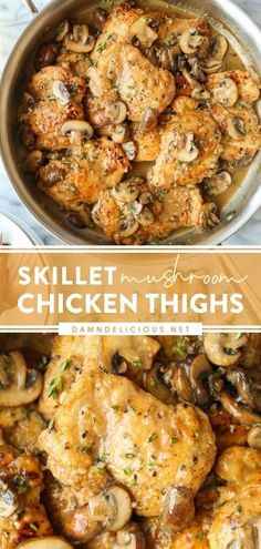 The quickest weeknight meal anyone can ask for! These skillet chicken thighs can be yours in just 30 minutes from start to finish. Not only are they cooked to perfection, but they also have the most heavenly lemon and dill cream sauce. Save this easy dinner recipe! Easy Weeknight Meals, Quick Easy Meals, Easy Dinner Recipes, Dinner Ideas, Simple Recipes, Easy Dinners, Yummy Recipes, Dairy Recipes, Kitchens