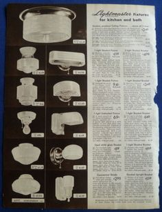 Lamps-Shades-Light-Fixtures-Home-Decor-Vintage-1940s-Sears-ORIGINAL-ADS-5pp
