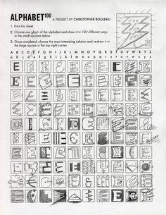 100 formas distintas de escribir una letra¡mayúsculas y minúsculas!!!!