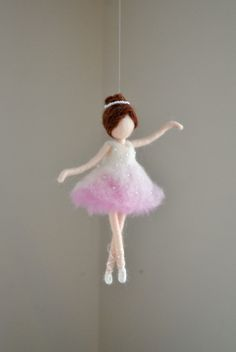 Ballerina Ornament Needle Felted wool ornament : от MagicWool
