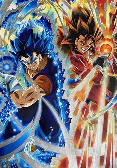 Vegito Ssj Blue, Gogeta E Vegito, Dragon Ball Z, Rwby Bumblebee, Legendary Dragons, Epic Characters, Owl House, Anime Art, Artwork