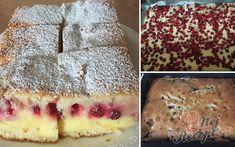 Nejjemnější koláč ze zakysané smetany se šťavnatým krémem uvnitř | NejRecept.cz High Sugar, No Bake Cake, Food And Drink, Pudding, Treats, Drinks, Cooking, Ethnic Recipes, Sweet