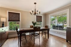 Beautiful formal dining room 3406 W Henley St in Glenview 🍽🏡🗝 Natural Stone Countertops, Granite Countertops, Glenview Illinois, Instagram Number, Covered Front Porches, Cherry Cabinets, Second Floor, Hardwood Floors, Family Room