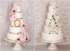 Cake design #weddingcake #classic #white #flowers #vm