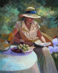Fall Garden Painting by Sally Rosenbaum