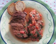 HCG safe steak with tomato-mint salsa recipe. Allowed for HCG phase 2 ...