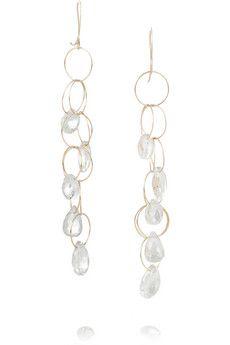 Melissa Joy Manning 14-karat gold topaz earrings | NET-A-PORTER
