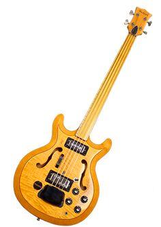 This 1968 Hohner-Bartell Black Widow is a rare One-Off early employee-built Fretless Bass. Guitar Rack, Cool Guitar, I Love Bass, Guitar Building, Pedalboard, Gretsch, Bass Guitars, Guitar Design, Jimi Hendrix