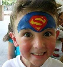 Superman Birthday Party Face Painting