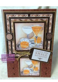 Sharon King  Downton Abbey CD1 Card Companion No.8 -  CD1 Ear of Grantham, Robert Co-ordinating papers 1 & 2 -Kraft Card - Centura Pearl Hint of Gold - Embellishments - Collall 3D Glue Gel - CD1 Toppers Design 3 - CD1 Sentiments Design 6 #crafterscompanion #DowntonAbbey