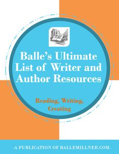 Get My Ultimate List of Writer and Author Resources. Instant access for writers and authors. #writing #author #freebie