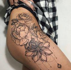 Exclusive free liquorice pompom tutorial flower tattoos for Mandala hip tattoo