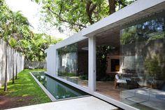 Modern Brazilian House Built Up and Around a Tree