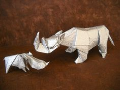 I did so many paper animation jobs in 2010.   Mother and Baby by Quentin Trollip and Nishikawa Seiji. Photo by Magali, origami-kids.com