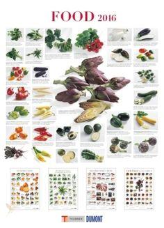 Ein hochwertiger Küchenkalender der besonderen Art Dekorativ und informativ zugleich: sechs moderne Food-Poster mit zahlreichen Abbildungen und sachkundigen Beschreibungen.