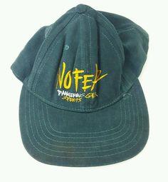 a2987bed27a Vintage NO FEAR Green SNAPBACK HAT Dangerous Sports Gear BALL CAP