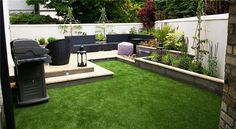 #ArtificialGrass for Backyard don't need regular watering mowing or fertilization, that could save you lots time and labour cost