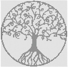 Alpha Pattern added by piperrocks - Bella De. Cross Stitch Tree, Modern Cross Stitch, Cross Stitch Kits, Cross Stitch Designs, Cross Stitching, Cross Stitch Embroidery, Wedding Cross Stitch Patterns, Motifs Perler, Cross Stitch Christmas Ornaments
