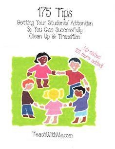 Classroom Freebies: 175 Transition Tips