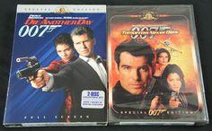 Two great #JamesBond movies on DVD, starring #PierceBrosnan. #DieAnotherDay #TomorrowNeverDies #OO7 #Madonna #HalleBerry #JudyDench #TeriHatcher #Spy #Movie #Film #Action #DVD