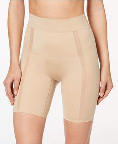 97fd4c02a9cd1 Women s Moderate-Control Thigh Shaper Shorts QF4264   breathable stretch fabric Calvin Klein