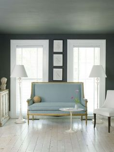 South Shore Decorating Blog: 50 Favorites for Friday (#76)wall and ceiling same dark color