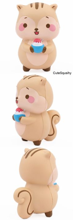 I believe this is either a squirrel or a chipmunk I don't know which comment down below./ Girl Toys Age 5, Toys For Girls, Kids Toys, Kawaii Plush, Kawaii Cute, Squishy Kawaii, Christmas Wishlist 2017, Slime And Squishy, Cute Squishies