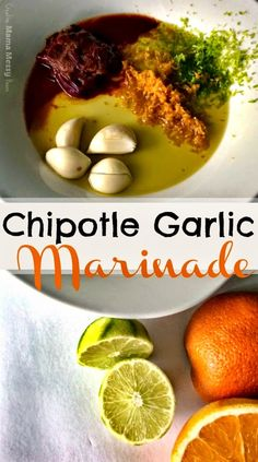 Chipotle Garlic Marinade - marinate steak, chicken, pork or shrimp for fantastic tacos, fajitas, etc... with all real ingredients!