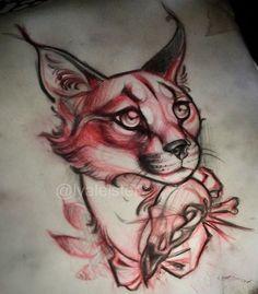 Lynx tattoo design.