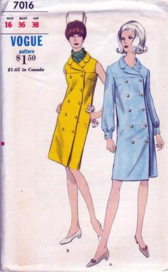 Vogue 7016 coatdress
