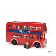 Buy The Little White Company > Toys > London Bus Toy from The White Company London Bus, British Themed Bedrooms, Toddler Toys, Kids Toys, Baby Toys, Boy Nursey, Big Red Bus, Little White Company, Tinker Toys