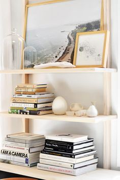 bookshelves - photograph by victoria smith of san francisco girl by the bay, woodwork by michael woo