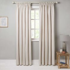 Monaco Natural Lined Pencil Pleat Curtains